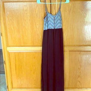 Spaghetti strap summer dress.